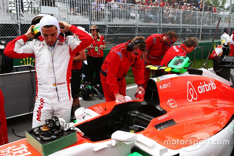 Roberto Merhi, Manor Marussia F1 Team on the grid