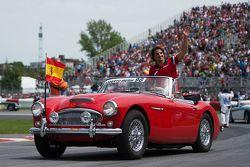Roberto Merhi, Manor Marussia F1 Team, bei der Fahrerparade
