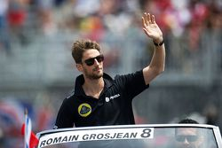 Romain Grosjean, Lotus F1 Team no desfile dos pilotos