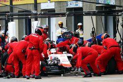Will Stevens, Manor Marussia F1 Takımı pit stop yapıyor