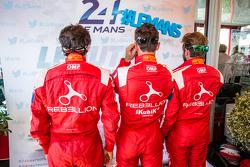 Rebellion Racing: Nicolas Prost, Mathias Beche and Nick Heidfeld