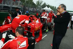 Sergio Marchionne, Ferrari President and CEO of Fiat Chrysler Automobiles on the grid