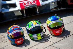 #8 Audi Sport Team Joest Audi R18 e-tron quattro: Lucas Di Grassi, Loic Duval, Oliver Jarvis, cascos