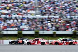 Martin Truex Jr., Furniture Row Racing Chevrolet and Kevin Harvick and Kurt Busch, Stewart-Haas Racing Chevrolets