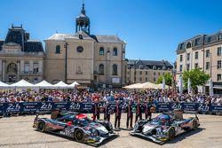 #30 Extreme Speed Motorsports Ligier JS P2: Scott Sharp, David Heinemeier Hansson, Ryan Dalziel y #31 Extreme Speed Motorsports Ligier JS P2: Ed Brown, Jon Fogarty, Johannes van Overbeek