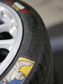 Michelin and OZ wheel detail