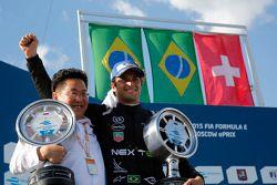 Podium: El ganador de la carrera, Nelson Piquet Jr.