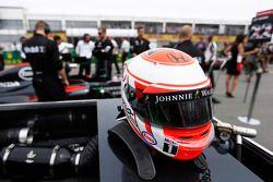 Helm von Jenson Button, McLaren-Honda