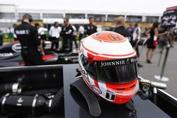Casco de Jenson Button, McLaren Honda