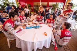 Audi Sport Team Joest: Lucas Di Grassi, René Rast, Marcel Fässler, Oliver Jarvis, Andre Lotterer, Fi