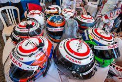 Nissan Motorsports: cascos de pilotos