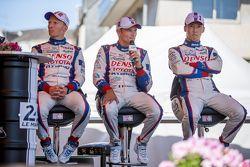 #1 Toyota Racing Toyota TS040 Hybrid: Kazuki Nakajima and #2 Toyota Racing Toyota TS040 Hybrid: Stép