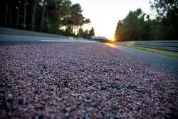 Nova superfície no lado da pista de Mulsanne até curvas Porsche