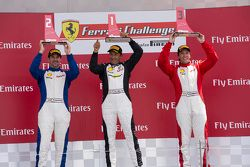 458TPAM Podium: Race winner #8 Ferrari of Fort Lauderdale Ferrari 458, second place #13 Ferrari of O