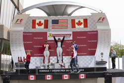 458TP Podium: Race winner #38 The Collection Ferrari 458: Gregory Romanelli, second placed #77 Ferra
