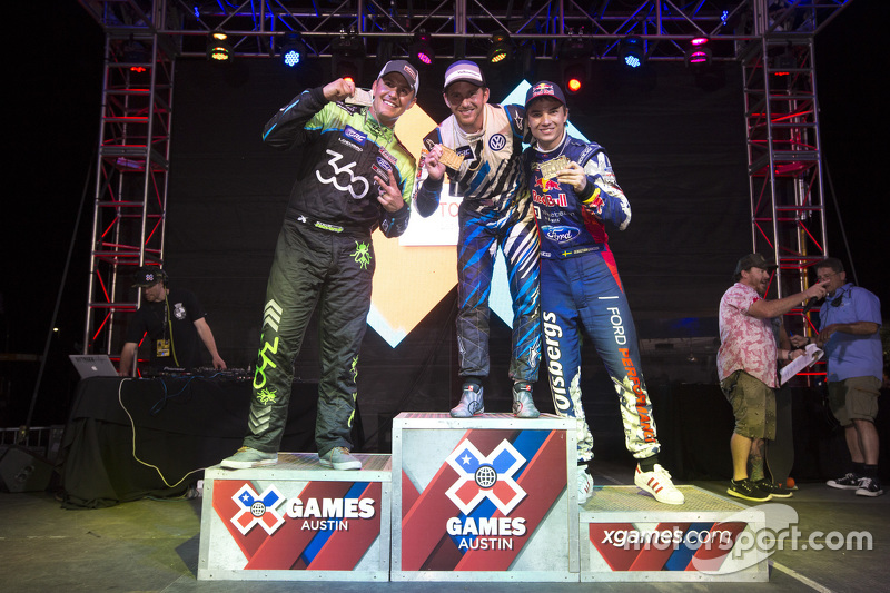 Podium: winner Scott Speed, second place Steve Arpin, third place Sebastian Eriksson