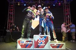 Podium: winner Scott Speed, second place Steve Arpin, third place Sebastian Eriksson