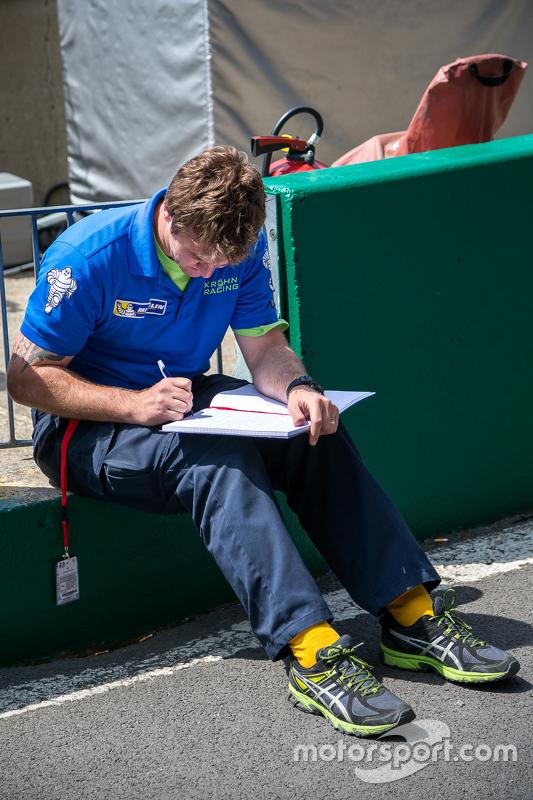 Membro da equipe Krohn Racing