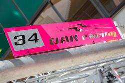 OAK Racing, Boxenschild