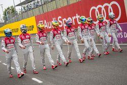 Audi Sport Team Joest: Marcel Fässler, Andre Lotterer, Benoit Tréluyer, Lucas di Grassi, Loic Duval, Oliver Jarvis, René Rast, Filipe Albuquerque, Marco Bonanomi