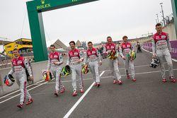 Audi Sport Team Joest: Marcel Fässler, Andre Lotterer, Benoit Tréluyer, Lucas di Grassi, Oliver Jar