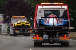Dificultad para el # 21 Nissan Motorsports Nissan GT-R LM NISMO: Tsugio Matsuda, Lucas Ordóñez, Marc