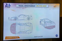 Aero splitter frontal para Le Mans