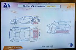 Trabajo aerodinámico difusor para Le Mans