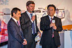 ACO president Pierre Fillon, Yoshiaki Kinoshita, Spirit of Le Mans winner