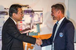 Yoshiaki Kinoshita, Spirit of Le Mans winner and Grand Marshal Tom Kristensen
