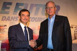 Presidente de ACO Pierre Fillon y de Tudor Estados Sportscar Jim France