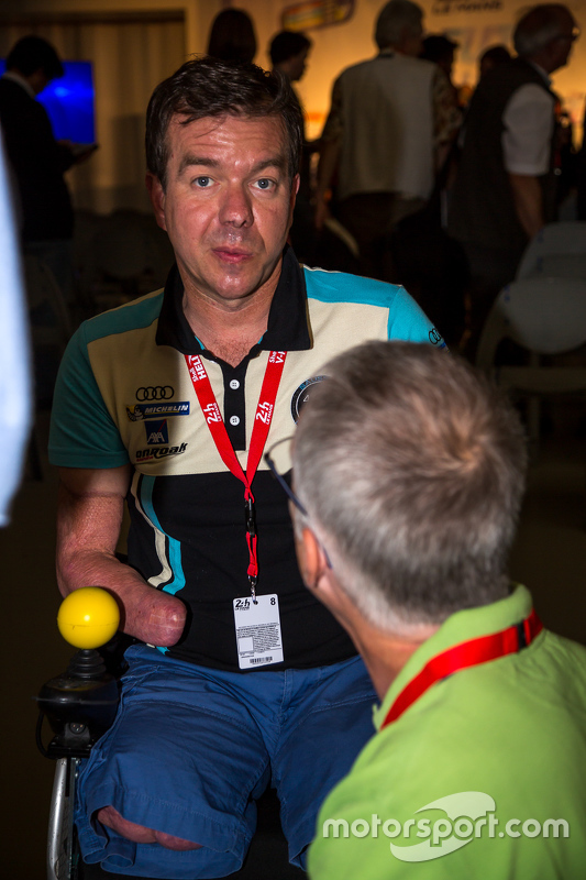 Frédéric Sausset, ein vierfach Amputierter, will 2016 die 24 Stunden von Le Mans bestreiten