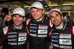 Ganador de la pole 24 horas de Le Mans 2015 # 18 Porsche Equipo Porsche 919 híbrido: Romain Dumas, N