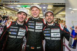 Ganadores de la Pole Romain Dumas, Marc Lieb y Neel Jani