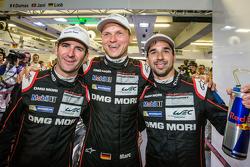 I vincitori della Pole Romain Dumas, Marc Lieb e Neel Jani