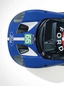 De nieuwe Ford GT die zal racen op Le Mans