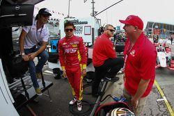 Dario Franchitti, Sebastian Saavedra, Chip Ganassi Racing, Chevrolet, und Paul Tracy
