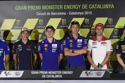 Maverick Viñales, Team Suzuki MotoGP e Marc Marquez, Repsol Honda Team e Jorge Lorenzo e Valentino R