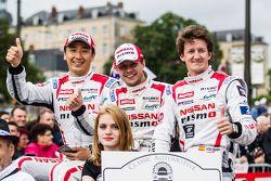 #21 Nissan Motorsports Nissan GT-R LM NISMO: Tsugio Matsuda, Mark Shulzhitskiy and Lucas Ordonez