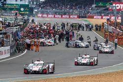 #8 Audi Sport Team Joest Audi R18 e-tron quattro: Lucas di Grassi, Loic Duval, Oliver Jarvis sai do