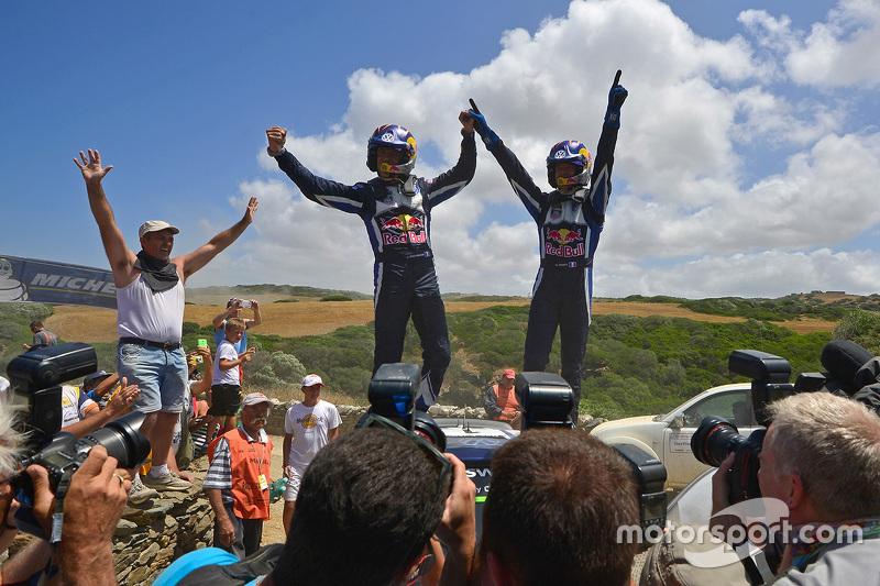 Ganadores Sébastien Ogier y Julien Ingrassia, Volkswagen Polo WRC, Volkswagen Motorsport, Campeones 2015