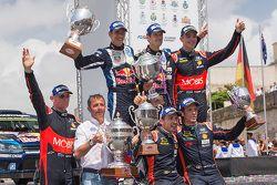 Podium: 1. Sébastien Ogier und Julien Ingrassia, Volkswagen Polo WRC, Volkswagen Motorsport; 2. Hayd