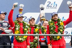 LMGT Am podium: third place #62 Scuderia Corsa Ferrari 458 GTE: Bill Sweedler, Townsend Bell, Jeff Segal