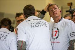 Porsche Team prepara a comemoração da vitória em Le Mans
