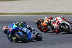 Maverick Viñales, Team Suzuki MotoGP, Danilo Petrucci, Pramac Racing Ducati e Stefan Bradl, Forward