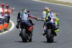 Vencedor Jorge Lorenzo e segundo Valentino Rossi, Yamaha Factory Racing