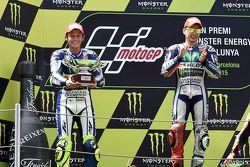 Segundo Valentino Rossi e vencedor Jorge Lorenzo, Yamaha Factory Racing