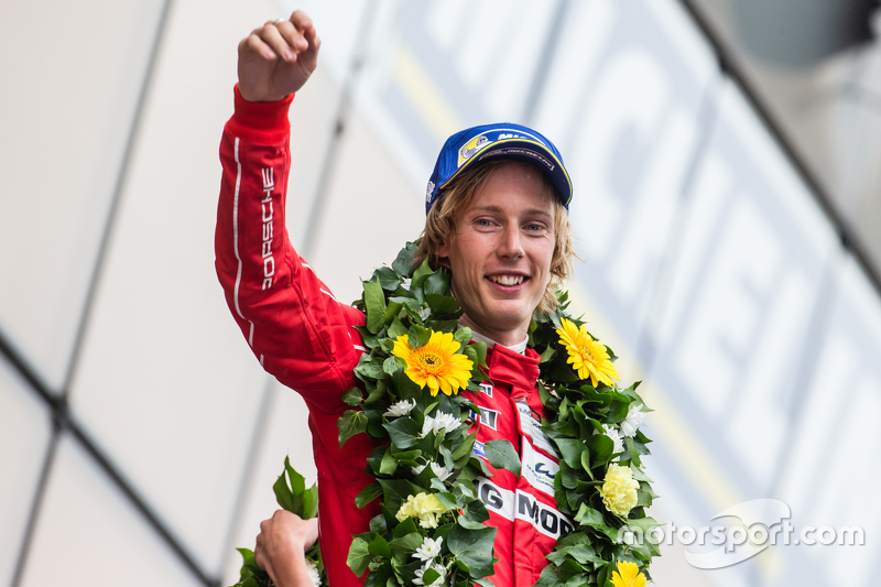 LMP1 podium: second place Porsche Team: Brendon Hartley