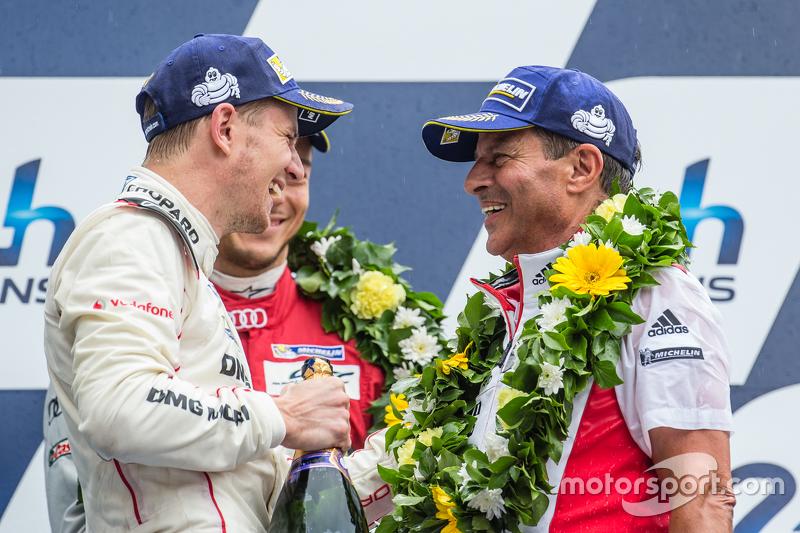 LMP1 Podyum: Porsche Takımı: Nico Hulkenberg ve Fritz Enzinger, Bölüm Başkanı, LMP1 Porsche