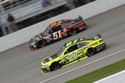 Justin Allgaier, HScott Motorsports Chevrolet and Paul Menard, Richard Childress Racing Chevrolet